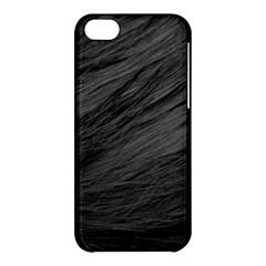 Long Haired Black Cat Fur Apple Iphone 5c Hardshell Case by trendistuff