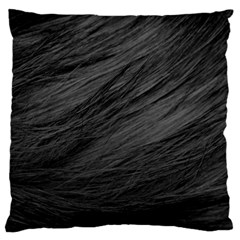 Long Haired Black Cat Fur Standard Flano Cushion Cases (one Side)  by trendistuff