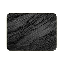 Long Haired Black Cat Fur Double Sided Flano Blanket (mini)  by trendistuff