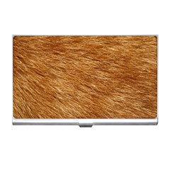 Light Brown Fur Business Card Holders by trendistuff
