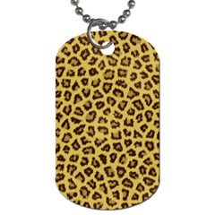 Leopard Fur Dog Tag (two Sides) by trendistuff