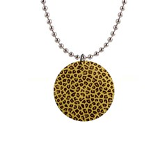 Leopard Fur Button Necklaces