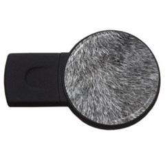 Grey Wolf Fur Usb Flash Drive Round (2 Gb)  by trendistuff