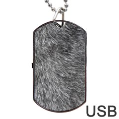 GREY WOLF FUR Dog Tag USB Flash (One Side) by trendistuff