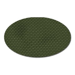 Green Reptile Skin Oval Magnet by trendistuff