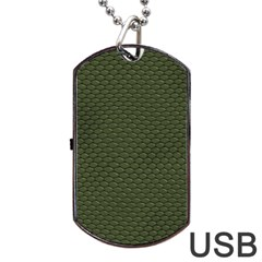 Green Reptile Skin Dog Tag Usb Flash (two Sides)  by trendistuff