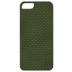 Green Reptile Skin Apple Iphone 5 Classic Hardshell Case by trendistuff