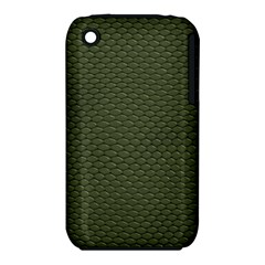 Green Reptile Skin Apple Iphone 3g/3gs Hardshell Case (pc+silicone) by trendistuff
