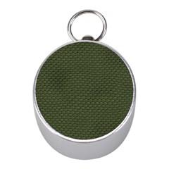 Green Reptile Skin Mini Silver Compasses by trendistuff