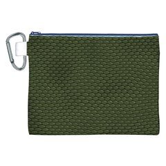 GREEN REPTILE SKIN Canvas Cosmetic Bag (XXL)  by trendistuff