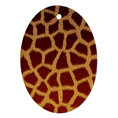 Giraffe Hide Ornament (oval)  by trendistuff