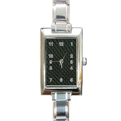 Dark Green Scales Rectangle Italian Charm Watches by trendistuff