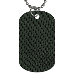 Dark Green Scales Dog Tag (two Sides) by trendistuff