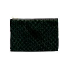Dark Green Scales Cosmetic Bag (medium)  by trendistuff