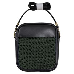 DARK GREEN SCALES Girls Sling Bags by trendistuff