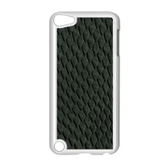 Dark Green Scales Apple Ipod Touch 5 Case (white) by trendistuff