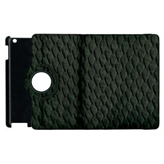 DARK GREEN SCALES Apple iPad 3/4 Flip 360 Case by trendistuff
