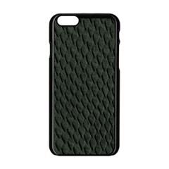 DARK GREEN SCALES Apple iPhone 6/6S Black Enamel Case by trendistuff