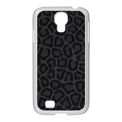 Black Leopard Print Samsung Galaxy S4 I9500/ I9505 Case (white) by trendistuff