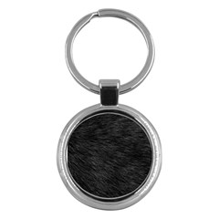 Black Cat Fur Key Chains (round)  by trendistuff