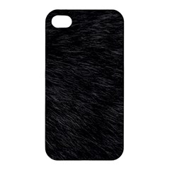 Black Cat Fur Apple Iphone 4/4s Premium Hardshell Case by trendistuff