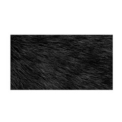 Black Cat Fur Satin Wrap by trendistuff