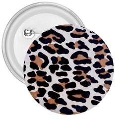 Black And Brown Leopard 3  Buttons by trendistuff