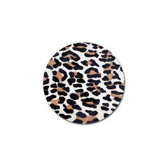Black And Brown Leopard Golf Ball Marker (4 Pack) by trendistuff