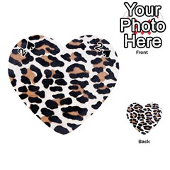 Black And Brown Leopard Playing Cards 54 (heart)