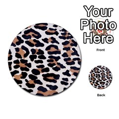 Black And Brown Leopard Multi Purpose Cards (round)