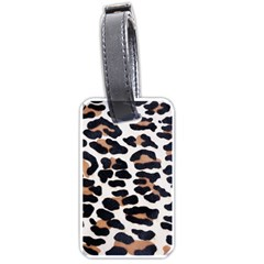 Black And Brown Leopard Luggage Tags (one Side)  by trendistuff