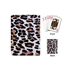 Black And Brown Leopard Playing Cards (mini)  by trendistuff