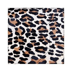 Black And Brown Leopard Acrylic Tangram Puzzle (6  X 6 ) by trendistuff