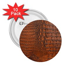 Alligator Skin 2 25  Buttons (10 Pack)  by trendistuff