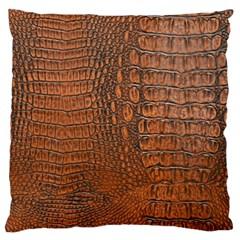 Alligator Skin Standard Flano Cushion Cases (one Side)  by trendistuff
