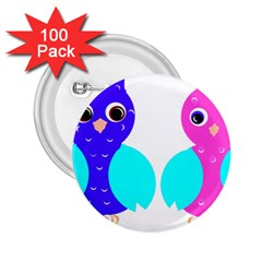 Owl couple  2.25  Buttons (100 pack)  by JDDesigns
