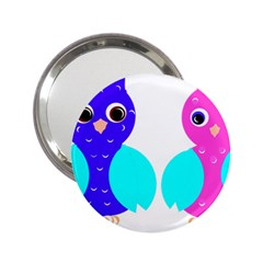 Owl Couple  2 25  Handbag Mirrors by JDDesigns