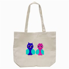 Owl Couple  Tote Bag (cream)
