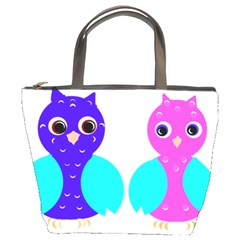 Owl Couple  Bucket Bags by JDDesigns