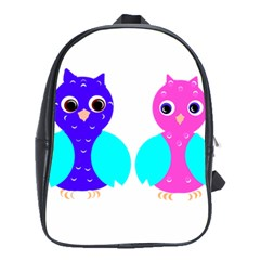 Owl Couple  School Bags(large)  by JDDesigns