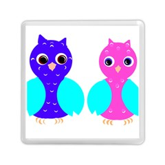 Owl Couple  Memory Card Reader (square)  by JDDesigns