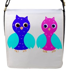 Owl Couple  Flap Messenger Bag (s) by JDDesigns