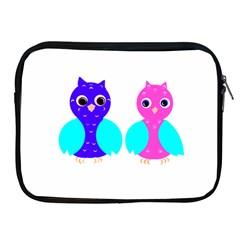 Owl Couple  Apple Ipad 2/3/4 Zipper Cases by JDDesigns