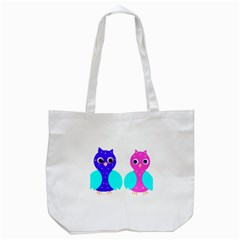 Owl Couple  Tote Bag (white)  by JDDesigns