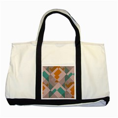Pieces Two Tone Tote Bag by LalyLauraFLM