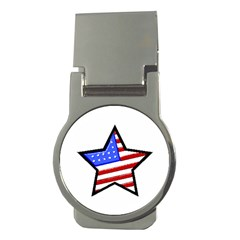USA Flag Star Money Clip (Round) from CowCow.com Front