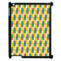 Connected Rectangles Pattern Apple Ipad 2 Case (black) by LalyLauraFLM