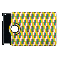 Connected Rectangles Pattern Apple Ipad 3/4 Flip 360 Case by LalyLauraFLM