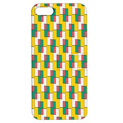 Connected Rectangles Pattern Apple Iphone 5 Hardshell Case With Stand by LalyLauraFLM
