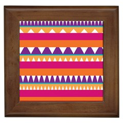 Stripes And Peaks Framed Tile by LalyLauraFLM